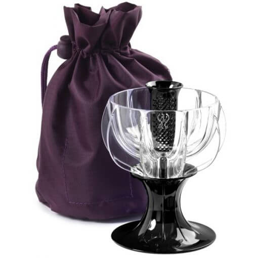 black velvet wine aerator with travel tote bag