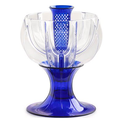 crystalline blue wine aerator
