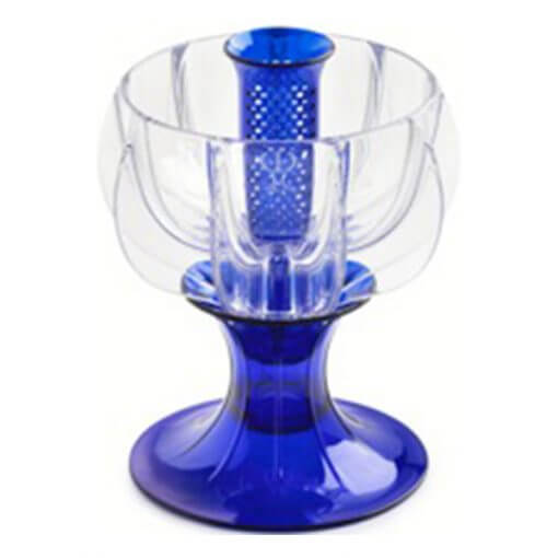 crystalline blue wine aerator tilted