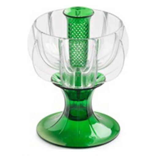 crystalline green wine aerator tilted