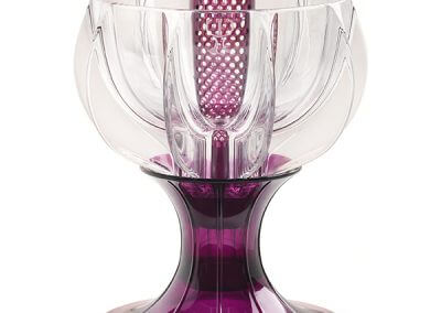 crystalline purple wine aerator
