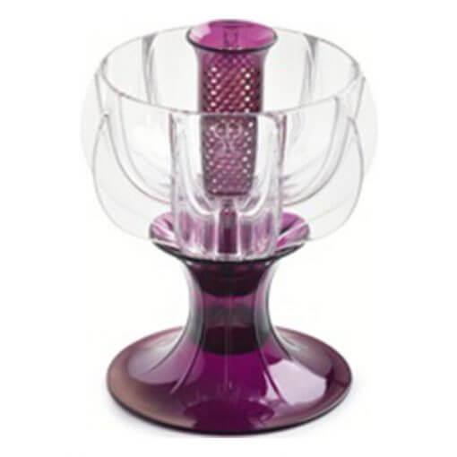 crystalline purple wine aerator tilted
