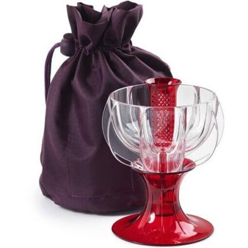 wine aerator with travel tote