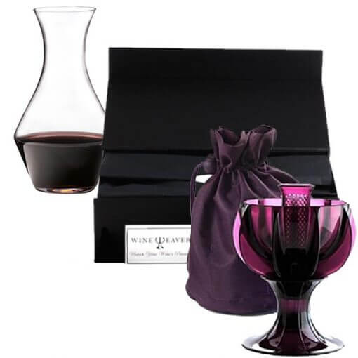 Wine Aerator Purple Party Selection in Classic Giftbox